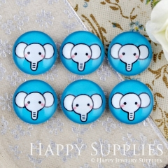 10pcs 12mm Elephant Handmade Photo Glass Cabochon GC12-913