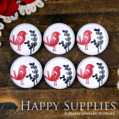 10pcs 12mm Bird Handmade Photo Glass Cabochon GC12-1075