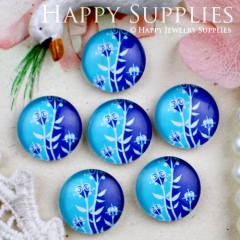 10pcs 12mm Leaves Flower Handmade Photo Glass Cabochon GC12-290