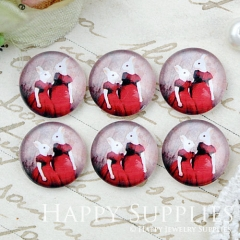 10pcs 12mm Rabbit Handmade Photo Glass Cabochon GC12-1020