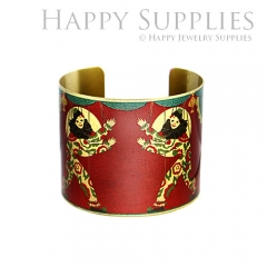 1pcs Clown Handmade Photo Brass Cuff Bracelet PBC081