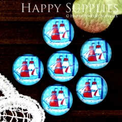 10pcs 12mm Sailing Handmade Photo Glass Cabochon GC12-756