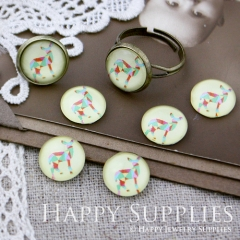 10pcs 12mm Deer Handmade Photo Glass Cabochon GC12-021