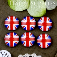 10pcs 12mm National flag Handmade Photo Glass Cabochon GC12-534