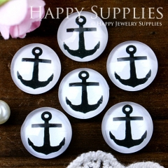 10pcs 12mm Anchor Handmade Photo Glass Cabochon GC12-594