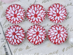 10pcs 12mm Flower Handmade Photo Glass Cabochon GC12-1096