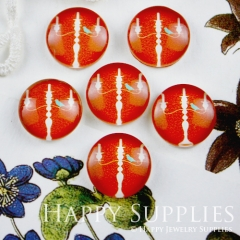 10pcs 12mm Candlestick Bird Handmade Photo Glass Cabochon GC12-086