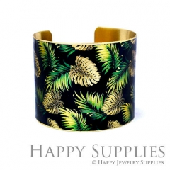 1pcs Leaf Handmade Photo Brass Cuff Bracelet PBC125