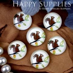 10pcs 12mm Squirrel Handmade Photo Glass Cabochon GC12-217