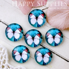 10pcs 12mm Butterfly Handmade Photo Glass Cabochon GC12-631