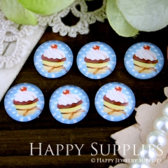 10pcs 12mm Cake Handmade Photo Glass Cabochon GC12-248