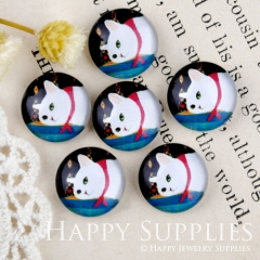 10pcs 12mm Cat Handmade Photo Glass Cabochon GC12-909