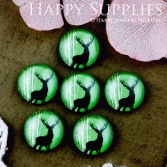 10pcs 12mm Deer Handmade Photo Glass Cabochon GC12-550