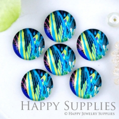 10pcs 12mm Colorful Print Handmade Photo Glass Cabochon GC12-1243