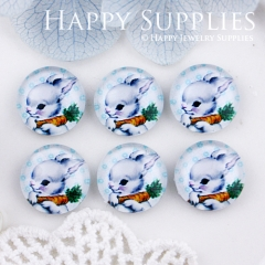 10pcs 12mm Rabbit Handmade Photo Glass Cabochon GC12-527