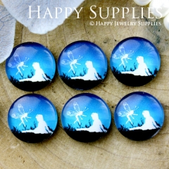 10pcs 12mm Angel Handmade Photo Glass Cabochon GC12-686