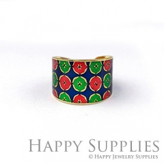 1pcs Pattern Handmade Photo Brass Ring PR135