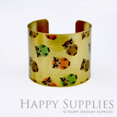 1pcs Owl Handmade Photo Brass Cuff Bracelet PBC016