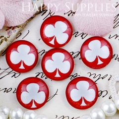 10pcs 12mm Flower Handmade Photo Glass Cabochon GC12-429