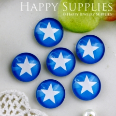 10pcs 12mm Star Handmade Photo Glass Cabochon GC12-536