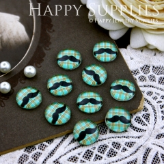 10pcs 12mm Moustache Handmade Photo Glass Cabochon GC12-183