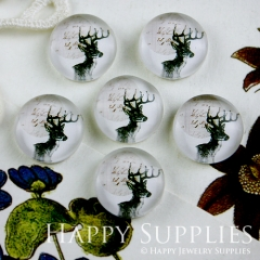 10pcs 12mm Deer Handmade Photo Glass Cabochon GC12-098