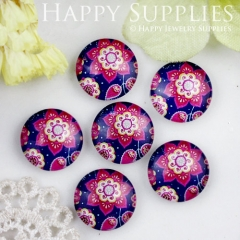 10pcs 12mm Flower Handmade Photo Glass Cabochon GC12-727