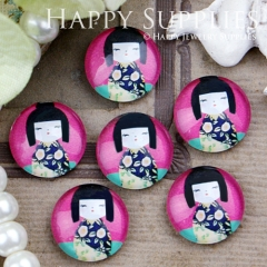10pcs 12mm Doll Handmade Photo Glass Cabochon GC12-420