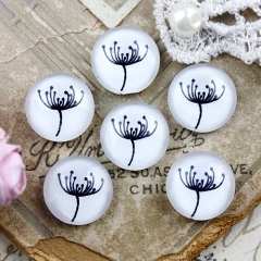 10pcs 12mm Flower Handmade Photo Glass Cabochon GC12-872