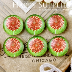10pcs 12mm Flower Handmade Photo Glass Cabochon GC12-640
