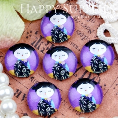 10pcs 12mm Cute Doll Handmade Photo Glass Cabochon GC12-423