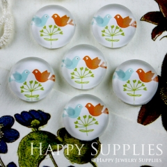 10pcs 12mm Bird Handmade Photo Glass Cabochon GC12-102