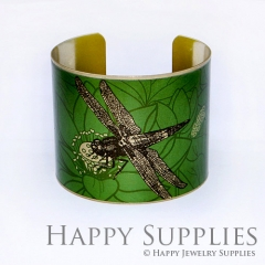 1pcs Dragonfly Handmade Photo Brass Cuff Bracelet PBC011