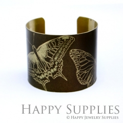 1pcs Butterfly Handmade Photo Brass Cuff Bracelet PBC078