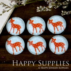 10pcs 12mm Deer Handmade Photo Glass Cabochon GC12-003