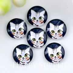10pcs 12mm Cat Handmade Photo Glass Cabochon GC12-1151