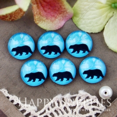 10pcs 12mm Bear Handmade Photo Glass Cabochon GC12-548