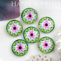 10pcs 12mm Flower Handmade Photo Glass Cabochon GC12-792