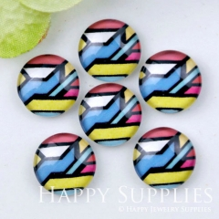 10pcs 12mm Geometric Colorful Handmade Photo Glass Cabochon GC12-1179