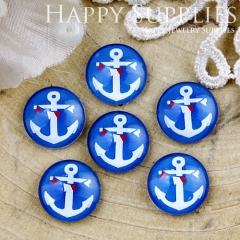 10pcs 12mm Anchor Handmade Photo Glass Cabochon GC12-804