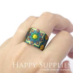 1pcs Pattern Handmade Photo Brass Ring PR068