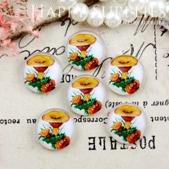 10pcs 12mm Mushroom Handmade Photo Glass Cabochon GC12-817
