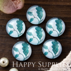 10pcs 12mm Leaf Leaves Handmade Photo Glass Cabochon GC12-617