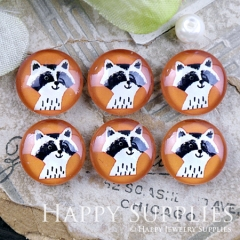 10pcs 12mm Orange Dog Handmade Photo Glass Cabochon GC12-1207