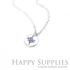 6pcs Leaf 925 Silver Plated Brass Charm Earring Necklace SY065