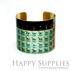 1pcs Periodic Table Handmade Photo Brass Cuff Bracelet PBC033