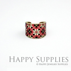 1pcs Pattern Handmade Photo Brass Ring PR059