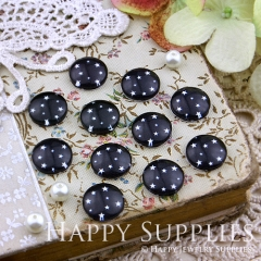 10pcs 12mm Star Black Handmade Photo Glass Cabochon GC12-131