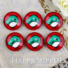 10pcs 12mm Bird Handmade Photo Glass Cabochon GC12-912