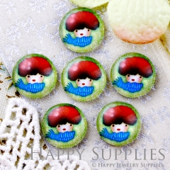 10pcs 12mm Girl Boy Handmade Photo Glass Cabochon GC12-620